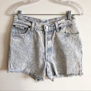 Vintage Levi's Railroad Stripe Cut Off Jean Shorts